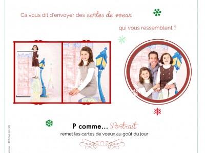 Carte de voeux, 2013, noel, fetes de fin d'année, Bonne année, famille, séance photo, séance photo en famille, studio, portrait, photographe, professionnel, Paris, Montmartre